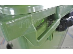 660L手推垃圾车 户外塑料环卫垃圾车 优质大型垃圾箱直销