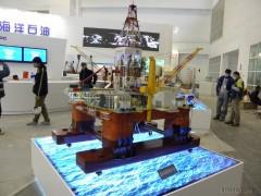 奥克 石油钻机模型 半潜式海洋平台 模型厂家