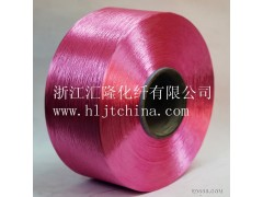 江苏彩色涤纶长丝300D96F大圆机割绒布原料汇隆化纤厂家直销
