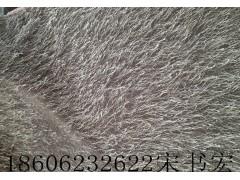 小圆机长毛松针绒 假毛服装面料  常熟内销毛绒产品
