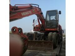 山东厂家处理二手旧恒特120轮式挖掘机一台,抓木机,夹木机,卸木机进口配置,全液压操作,