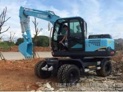 华南重工HNE-80W轮胎式液压挖掘机小挖掘机轮胎挖掘机比65大挖掘机品牌挖掘机轮胎小挖好用的小挖 轮式挖掘机