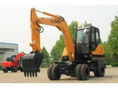 供应北京恒特挖掘机HTL70轮式挖掘机
