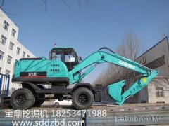滨州宝鼎BD95W-9轮式挖掘机,配置好效率高 宝鼎轮式挖掘机