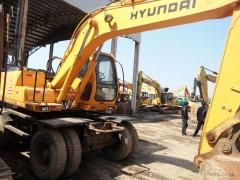 现代210W  二手轮式挖掘机转让  二手挖机交易市场  二手轮挖买卖