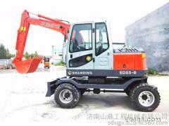 供应 山鼎 安徽售后完善的轮式挖掘机 小型挖掘机