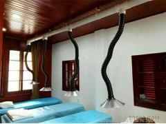 奥普75管径艾灸排烟用万向竹节吸烟罩,九江万向定位竹节吸气臂包邮 尾气处理装置