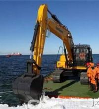 柳工挖掘机兄弟CLG856H已顺利抵达南极