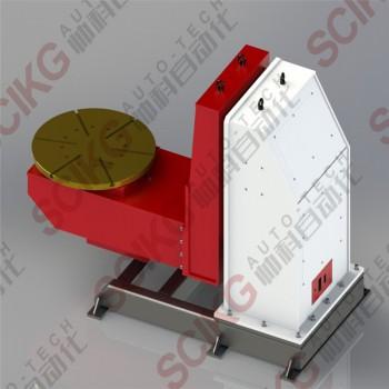 焊接变位机 山东临沂厂家定制全自动伺服管法兰通孔焊接变位机